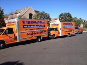 911 Restoration Virginia Beach Vehicles at Job Site