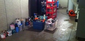 Garage Flood From A Pipe Burst