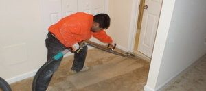 Carpet Being Cleaned After Flood Damage From A Bomb Cyclone