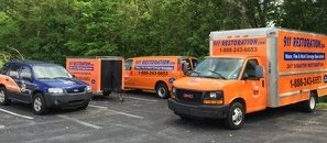 Water and Mold Damage Restoration Vehicles